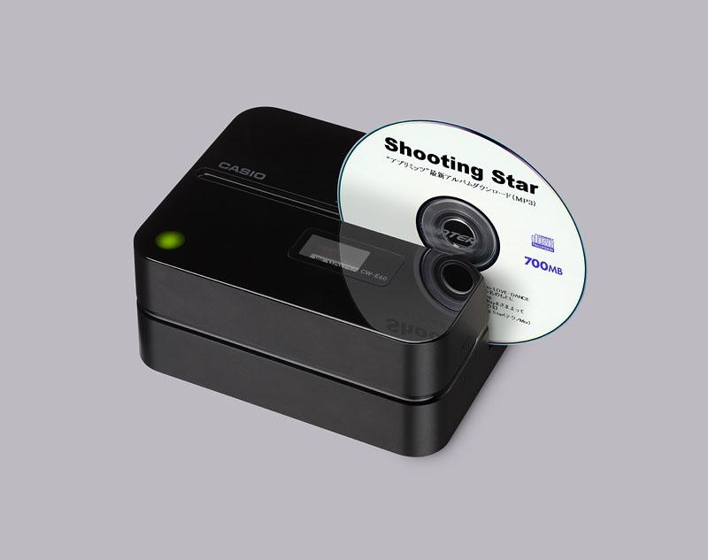 カシオ cd dvdレーベル面に直接印刷可能なプリンタ