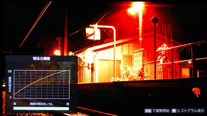 631f5b01f6d0c 周囲の明るさに応じてガンマカーブも動的補正される。左が完全暗室時、右がLEDライトを照度センサーに当ててわざと高輝度誤認させた時の様子
