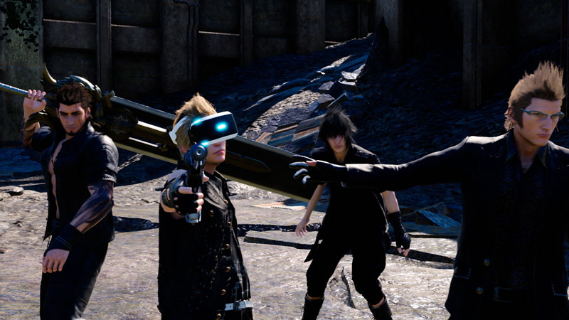 "FINAL FANTASY XV VR EXPERIENCE<span class=""fnt-70"">(C)2016 SQUARE ENIX CO., LTD. All Rights Reserved. MAIN CHARACTER DESIGN:TETSUYA NOMURA</span>"