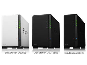 Synology、HEVC/4K変換対応NAS「DS218play」。約2万円の「DS218j」も