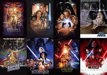 「スター・ウォーズ/最後のジェダイ」公開前日に32劇場で先行上映。特別映像も スター・ウォーズ歴代オリジナルポスター(C)2017 Lucasfilm Ltd. All Rights Reserved.