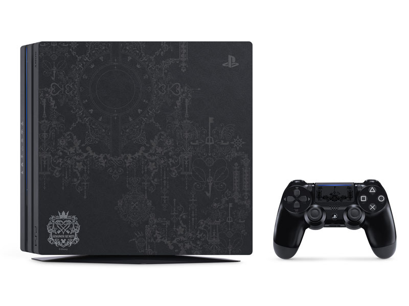 PlayStation 4 Pro KINGDOM HEARTS III LIMITED EDITION<br>(C)Disney (C)Disney/Pixar Developed by SQUARE ENIX<br>(C)2018 Sony Interactive Entertainment Inc. All rights reserved. Design and specifications are subject to change without notice.
