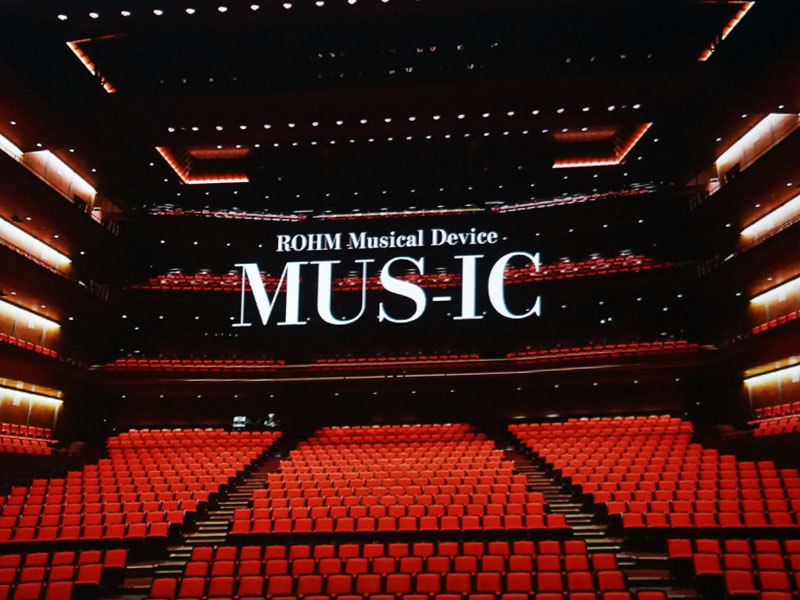 "ROHM Musical Device""MUS-ICのロゴ"