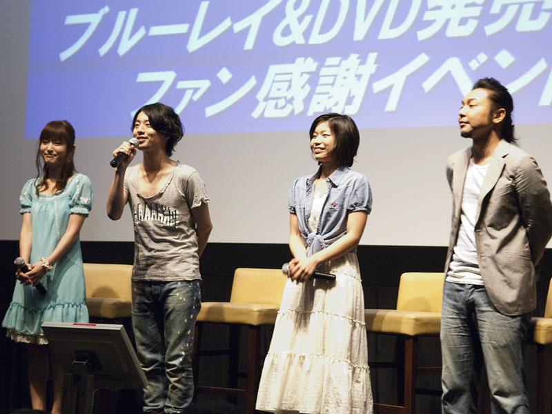 左からジョーイ役の小松未可子さん、サイ役の木村良平さん、リナ役の小幡真裕... 左からジョーイ役