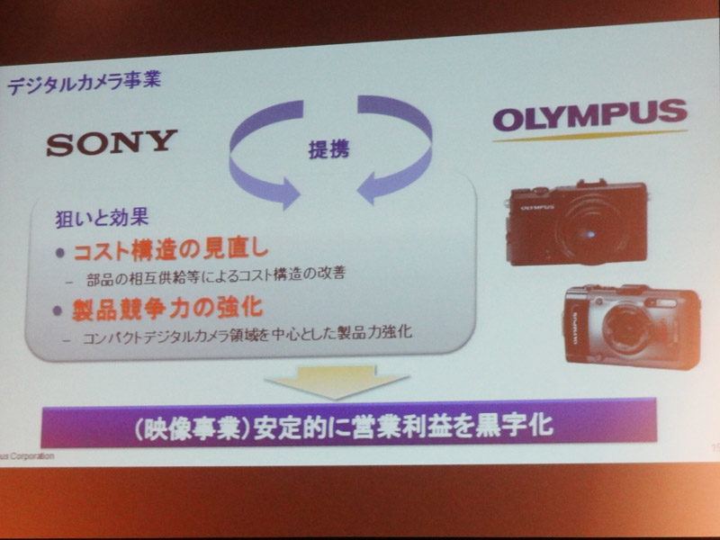 Olympus and Sony conference in Tokyo: Sony will supply