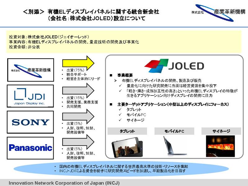 일본, 4개 사가 OLED 공동개발회사 JOLED 설립 예정