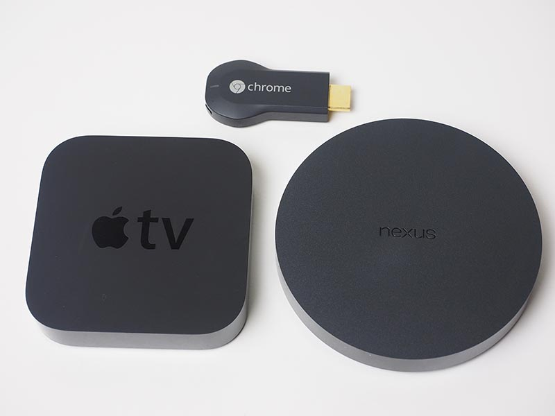 Apple TVやChromecastと比較