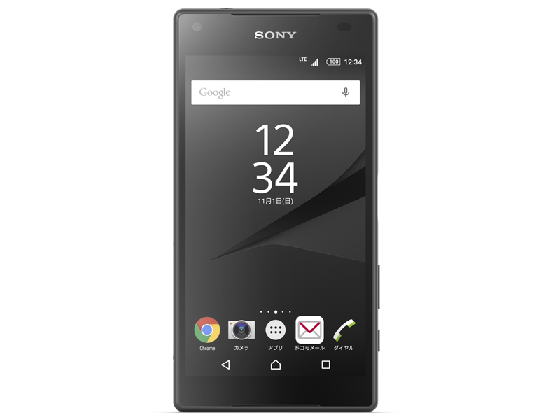 Xperia Z5 Compact、グラファイトブラック