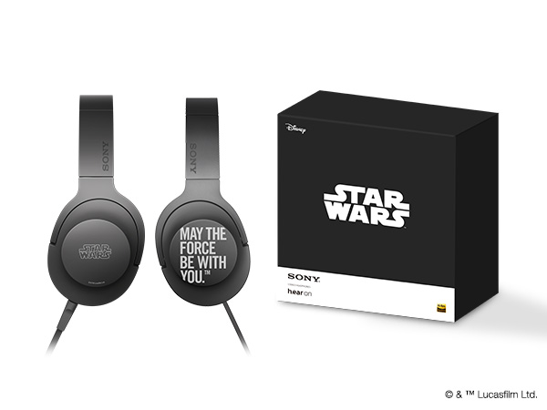 「h.ear on MDR-100A」は、ハウジングに「MAY THE FORCE BE WITH YOU.」を刻印