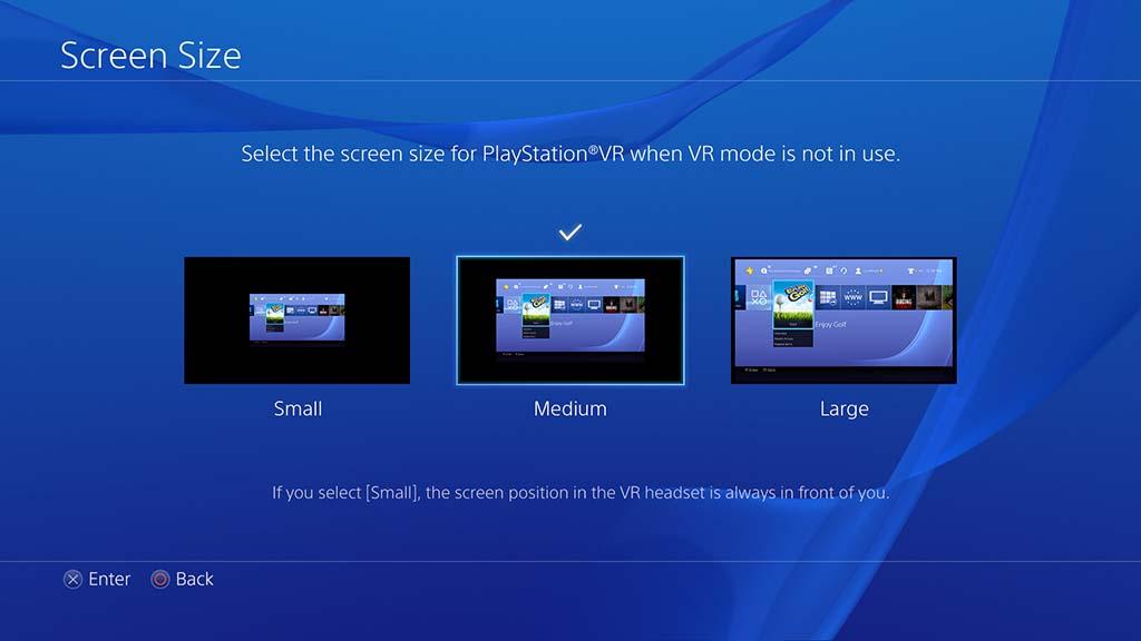 シネマティックモードで、通常のPS4映像/ゲームも大スクリーン表示。スクリーンサイズ選択が可能