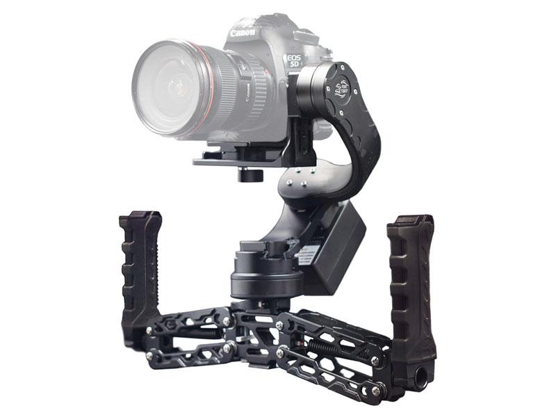 FILMPOWER、耐荷重4kgで一眼カメラを搭載できるジンバル。片手/両手持ち対応
