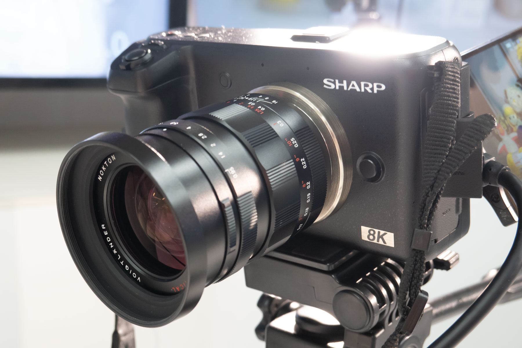 Sharp introduced in Japan for the first time an 8K / 30p
